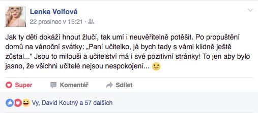 Komentář Lenky Volfové